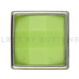 Apple Green Faceted Square
