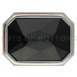 Black Faceted Octagon