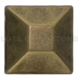 Bronze Faceted Square