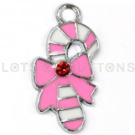 Colorful Candy Cane Charm