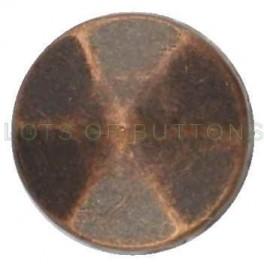 Copper Faceted Cone
