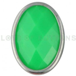 Green Faceted Oval
