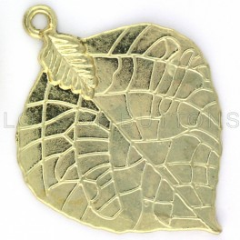 Golden Leaf Charm