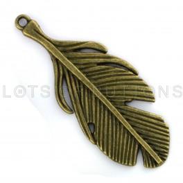 Bronze Feather Charm