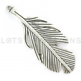 Silver Feather Charm