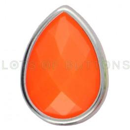 Orange Faceted Teardrop