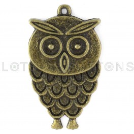 Dark Owl Charm