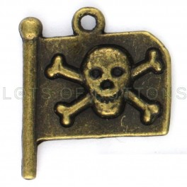 Copper Pirate Flag Charm