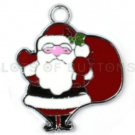 Santa With a Bag Charm