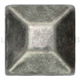 Silver Faceted Square