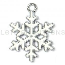 White Snowflake Charm
