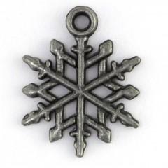Metal Snowflake Charm