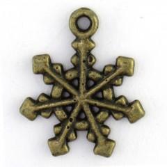 Simple Copper Snowflake Charm