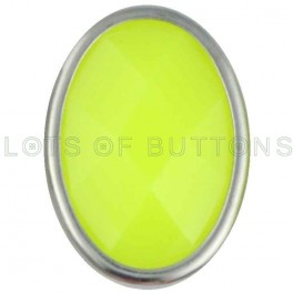 Yellow Faceted Oval