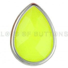 Yellow Faceted Teardrop