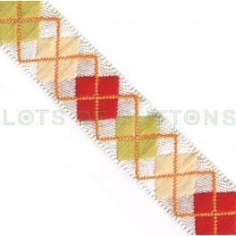 Argyle Woven Jacquard Ribbon (10mm)