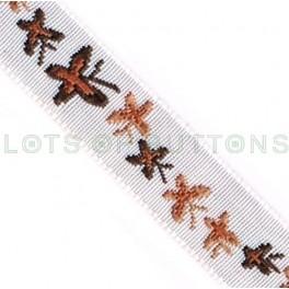 Butterflies Woven Jacquard Ribbon (10mm)