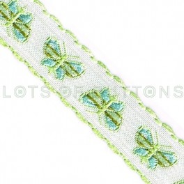 Butterflies Woven Jacquard Ribbon (13mm)