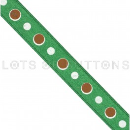 Circles Satin Ribbon (9mm)