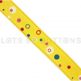 Circles Satin Ribbon (9mm)