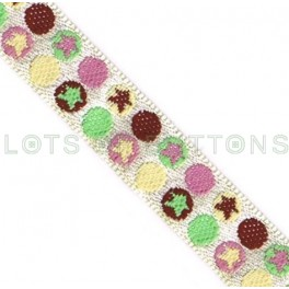 Circles Woven Jacquard Ribbon (10mm)