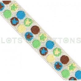 Circles Woven Jacquard Ribbon (10mm)