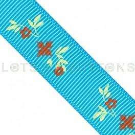 Flowers Grosgrain Ribbon (17mm)