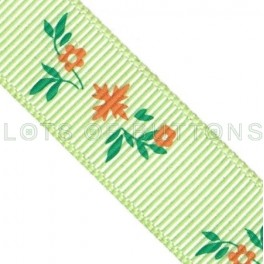 Flowers Grosgrain Ribbon (17mm)