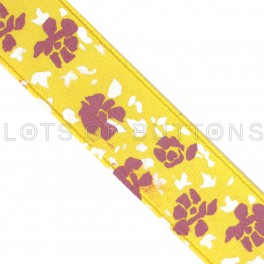 Flowers Satin Ribbon (15mm)
