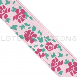 Flowers Satin Ribbon (15mm)