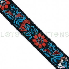 Flowers Woven Jacquard Ribbon (10mm)