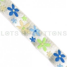 Flowers Woven Jacquard Ribbon (10mm)