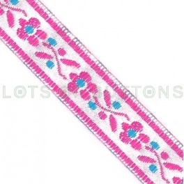 Flowers Woven Jacquard Ribbon (13mm)
