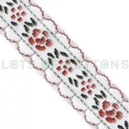 Flowers Woven Jacquard Ribbon (15mm)