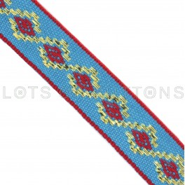 Geometric Woven Jacquard Ribbon (13mm)