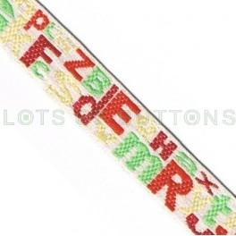Letters Woven Jacquard Ribbon (10mm)