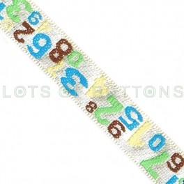 Numbers Woven Jacquard Ribbon (10mm)