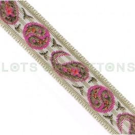 Paisley Woven Jacquard Ribbon (10mm)