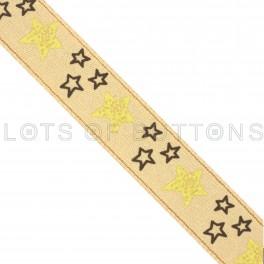 Stars Satin Ribbon (9mm)