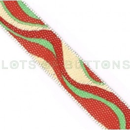 Waves Woven Jacquard Ribbon (10mm)