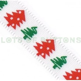 White Christmas Tree Ribbon