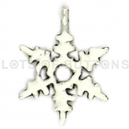 White Small Snowflake Charm