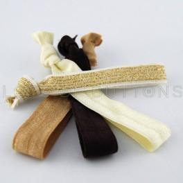 Brown Elastic Hair Ties
