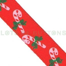 Red Candy Cane Ribbon