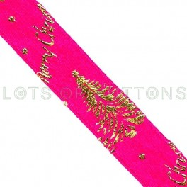 Pink Christmas Trees Ribbon