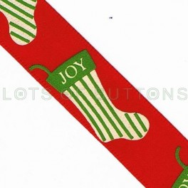 Christmas Joy Socks Ribbon
