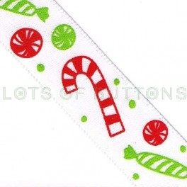 Christmas Sweets & Candy Canes Ribbon