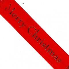 Red Merry Christmas Ribbon