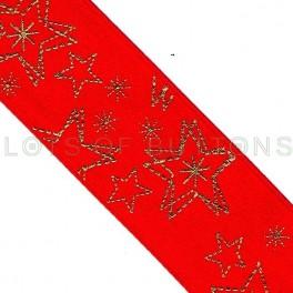 Red Golden Stars Ribbon
