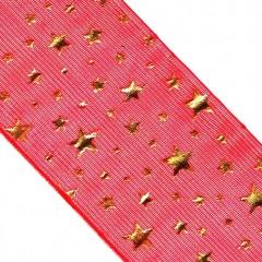 Christmas Gold Stars Ribbon